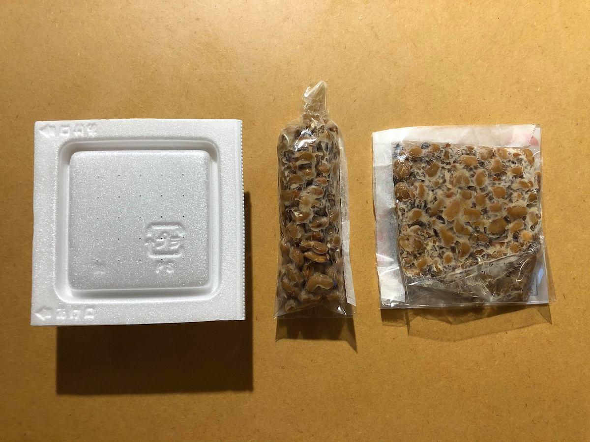 なっとう娘 鈴木真由子さんが開発している納豆パックの試作